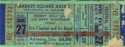 ERIC CLAPTON 1975 Tour Unused Concert Ticket