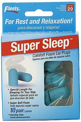 NEW! Super Sleep Comfort Foam Ear Plugs - 10 Pai from Apothecary (68405) (Blue)