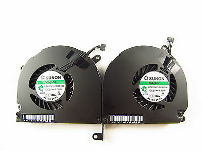 """New Apple Macbook Pro 15"""" A1286 Left+Right side CPU Cooling Fan 2009 2010 2011"""