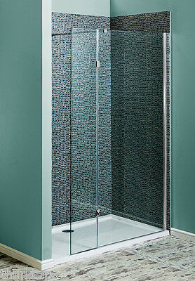 800mm Wet Room Screen Walk In Shower Enclosure With Flipper Glass Panel