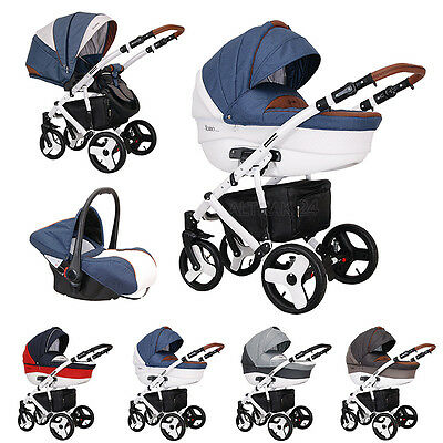 Baby Pram Buggy Pushchair Stroller Travel System 3in1 Florino Classic by Coletto
