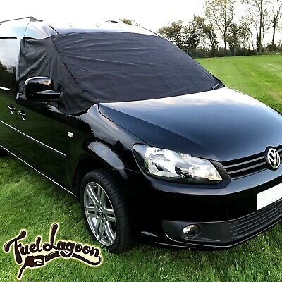 VW Caddy Window Black Out Front Screen Cover Wrap Frost Protection Blind Curtain