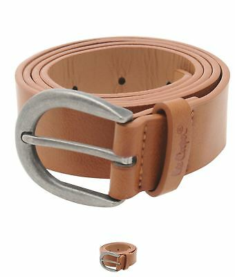 MODA Lee Cooper Plain Core Belt Ladies Tan