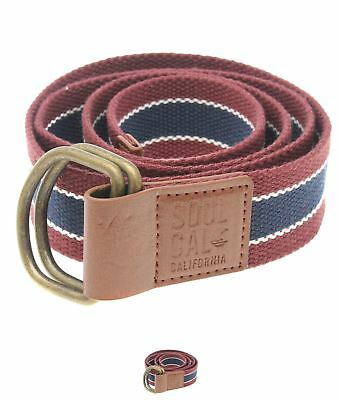 SPORTIVO SoulCal Stripe Weave Belt Mens Multi