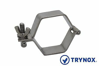 SMS 1.5'' Sanitary Hinged Tube Hanger 304 Stainless Steel Trynox