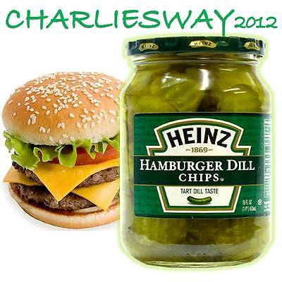 Heinz Hamburger Dill Chips Da 473 Gr Citriolo A Fette Made In Usa Per Panino