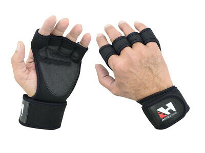 Long Wrist Wraps, Padded Palm, Gym Wraps, Training, Fitness Gym Gloves Hg-570