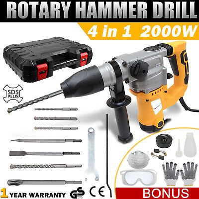 Max 1800W Demolition Rotary Jack Hammer 4 in1 Electric Jackhammer SDS Plus Drill