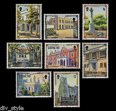 Architectural Heritage scenes of old Gibraltar mnh set of 8 stamps 1995