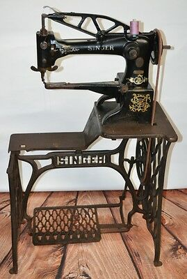 SINGER 29K SEWING MACHINE HEAVY DUTY LEATHER COBBLER SHOEMAKER | Working [P1961]