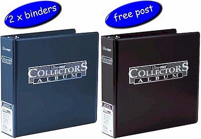 2 x Ultra Pro Collectors Album/Binder 3 Inch 3 Ring Black or Blue - Free UK Post