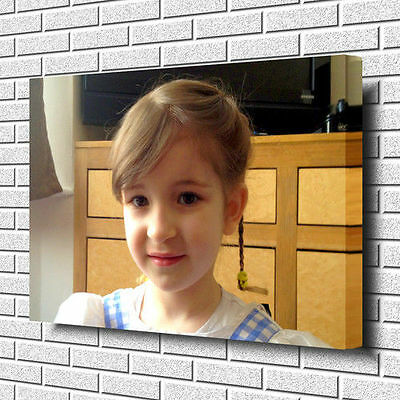 CANVAS PRINT YOUR PHOTO ON LARGE PERSONALISED SQUARE BOX FRAMED 30MM 40MM// 50M