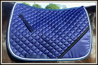 Diamante Saddle Cloth Numnah (Perfect For Embroidery) 6 Colours Available