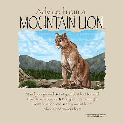 Advice From A Mountain Lion Adult Medium T-Shirt
