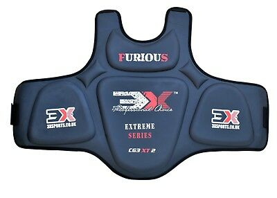3XSports Pro Karate Chest Guard Body Protector MMA Armour Muay Thai Kick Boxing