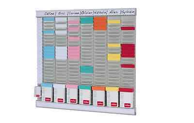 Office Organiser 7 Panel Meetings Visits Daily Weekly Business T Cards Shifts