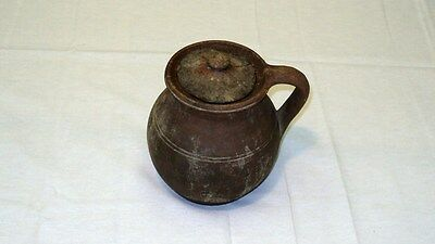 "Ancient Roman Pottery Jug 1st- 2nd century A.D. Terracotta 102 mm/4"" in diameter"