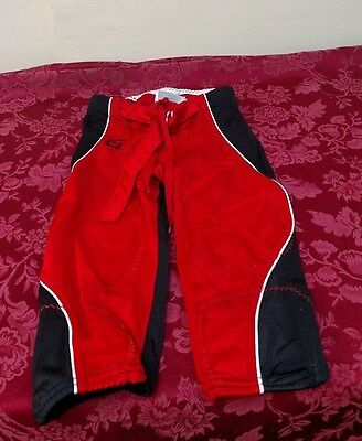 Gamewear Red Black Football Practice Pants Belt Lace Size Youth S ✞
