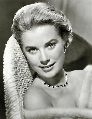 Grace Kelly Film Actress Glossy Black & White Photo Picture Print A4