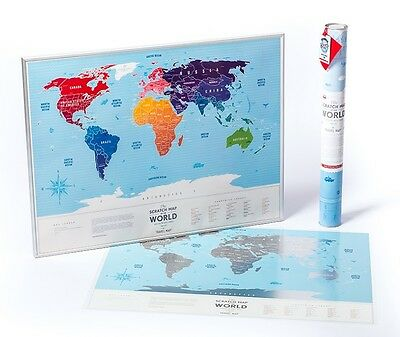 Original Premium Travel World Scratch Map for travelers. History of your trips.
