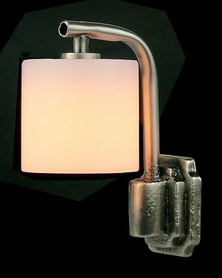 Dolls House Modern Wall Light with White Shade & Silver Fittings  12th scale