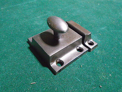 VINTAGE RUSSWIN CAST STEEL CABINET LATCH HANDLE w/KEEPER  (3045-D)