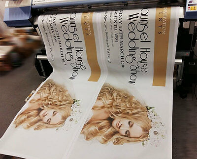 2.5ftx6ft PVC VINYL BANNERS PRINTED OUTDOOR SIGN DISPLAY STRONG 510gsm BANNER
