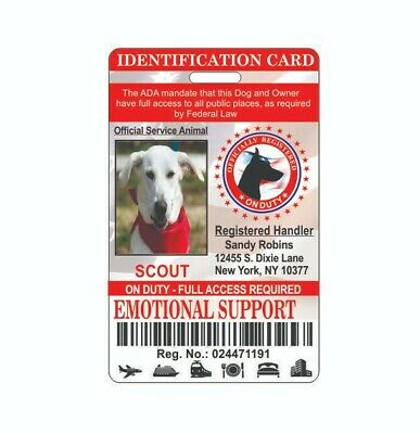 Emotional Support Holographic Service Dog ID