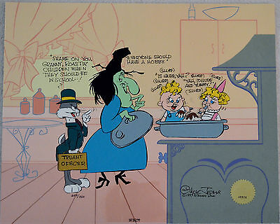 Chuck Jones Cel Bugs And Witch Hazel Truant Officer Cel Signed/#659/750 W/coa