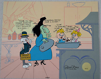 Chuck Jones Cel Bugs And Witch Hazel Truant Officer Cel Signed/#478/750 W/coa