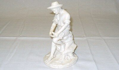 "REG JOHNSON & Sons Figurine FISHER BOY Made in England 7"" x 4"" (178 mm x 102 mm)"
