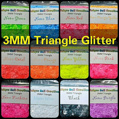 TRIANGLE Shape Glitter~U Choose~Nail•Acrylic•Gel•Body Art•Face•Festival•Craft