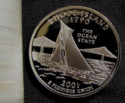 2001-S San Francisco Mint 90% Silver Proof Rhode Island State Quarter