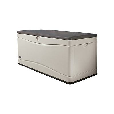 Lifetime 60012 Extra Large Deck Box,Brown/Black,60in.Interior capacity is 130gal