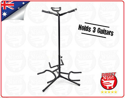 Guitar Tree Stand Multi Holds 3 w/Legs & Locks Black GS-3