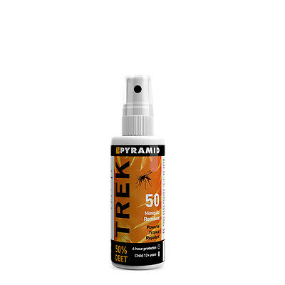 Pyramid Trek Repel 50 60ml Travel Insect Repellent Mosquito 50% DEET To 6 Hours