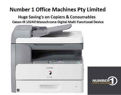 Canon iR1024if Copy,Fax,Scan,email,Colour Scan,Scan as PDF, Scan,Network Print