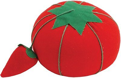 Dritz Tomato Pin Cushion ,Sewing needles stay clean ,732,  W/Strawberry NEW AOI