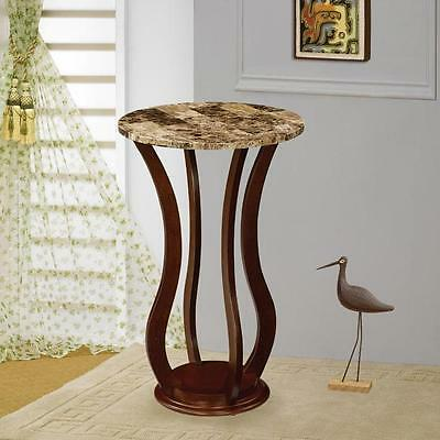 Coaster 900926 - Accent Stands Round Marble Top Plant Stand - Cherry
