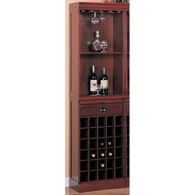 Coaster 3080-1 - Lambert Traditional Wine Wall Bar Unit