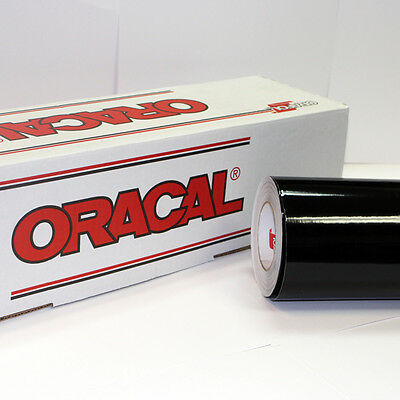 "Black Oracal 651 (1) Roll 12"" X 10' Sign Cutting Vinyl"