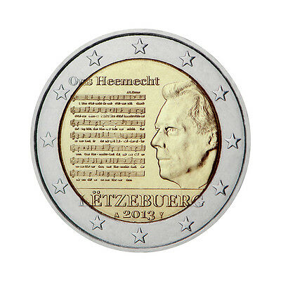 "Luxembourg 2 Euro commemorative coin 2013 ""National Anthem"" - UNC"