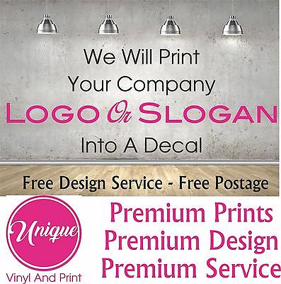 Personalised Custom business Logo Decal Sticker Mural We will cut your logo