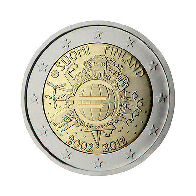 "Finland 2 Euro commemorative coin 2012 ""10 - years of Euro"" - UNC"