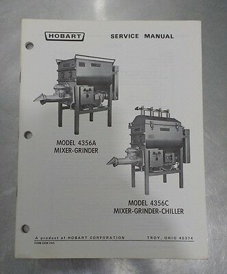 Hobart Mixer Grinder Service Manual - Good Condition