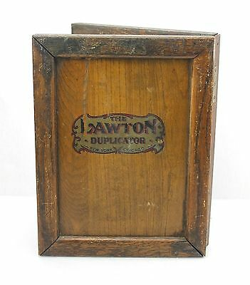 Antique Lawton Duplicator Copier Letter Sized Two Surfaces Hinged Wood & Slate