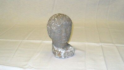 ANTIQUE ROMAN STONE FIGURE FIGURINE STATUE HEAD BUST 1st-4th c AD 155 mm x 85 mm