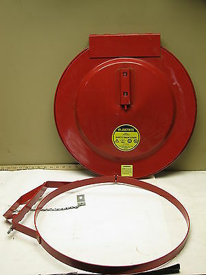 Justrite Self Closing Drum Cover with Fusible Link 30 Gallon (26730)