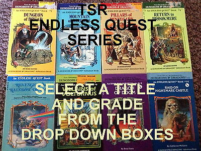 TSR Endless Quest (Fighting Fantasy Style Gamebooks) Select a Title & Grade