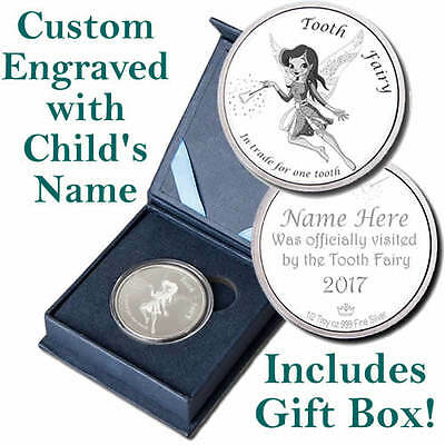 2017 A Visit From The Tooth Fairy BU 1/2 oz Silver Round - CUSTOM ENGRAVED COIN